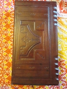 1 Leather Altar Box with Hoodoo Surprises-From Mali-Large