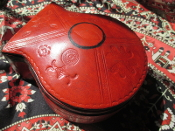 1 Leather Altar Box with Hoodoo Surprises-From Mali-SMALL