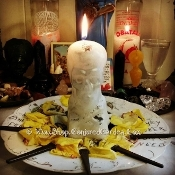5 In. White Skull Candle-Health, Purification, Power, Change