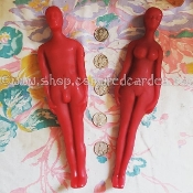 8 Inch Beeswax Poppet, Doll Baby, Voodoo Doll-FEMALE-RED